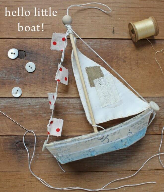 Fun Paper Mache Sailboat Decoration
