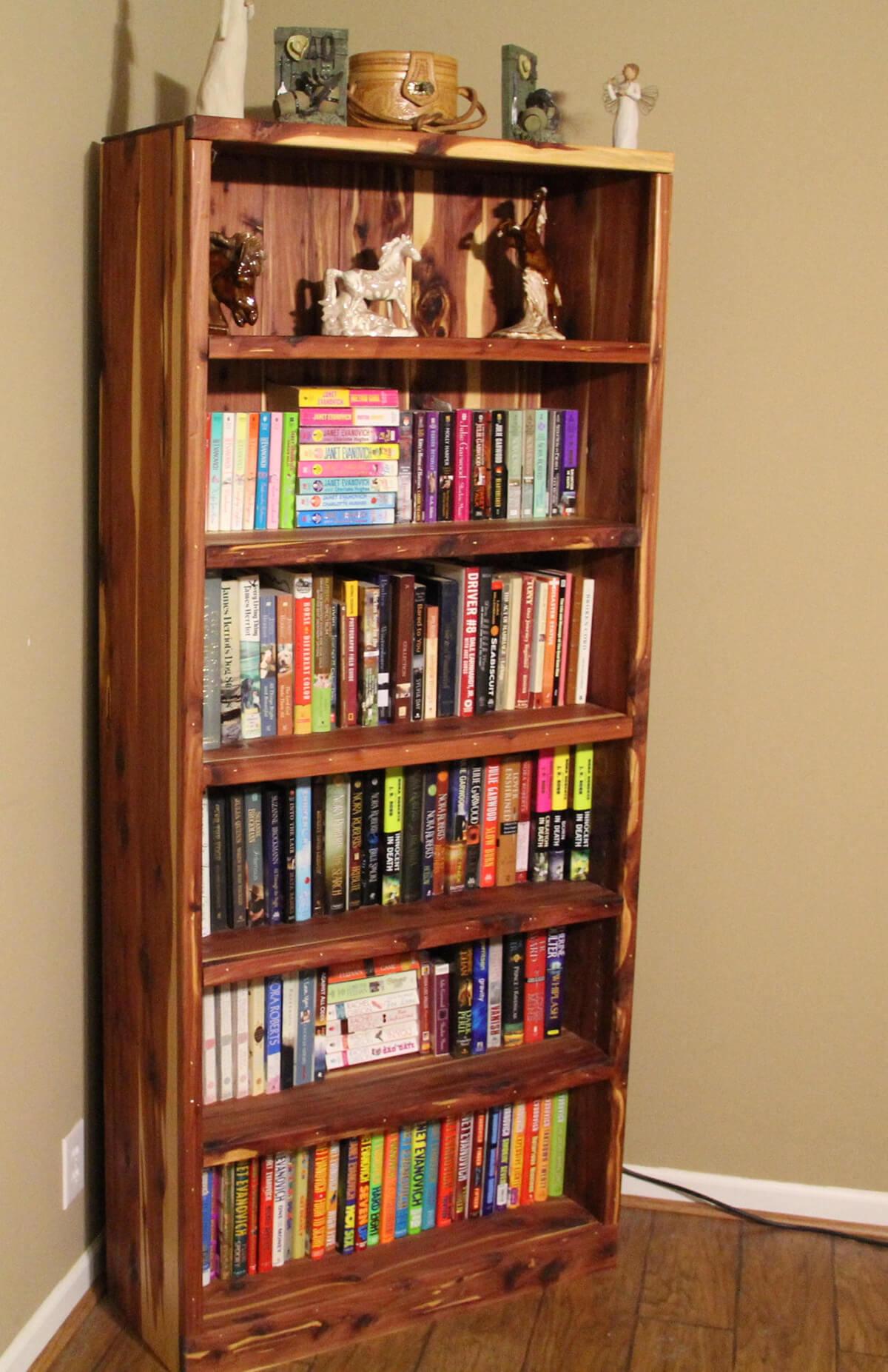 Rustic Cedar Bookshelf Home Library Ideas