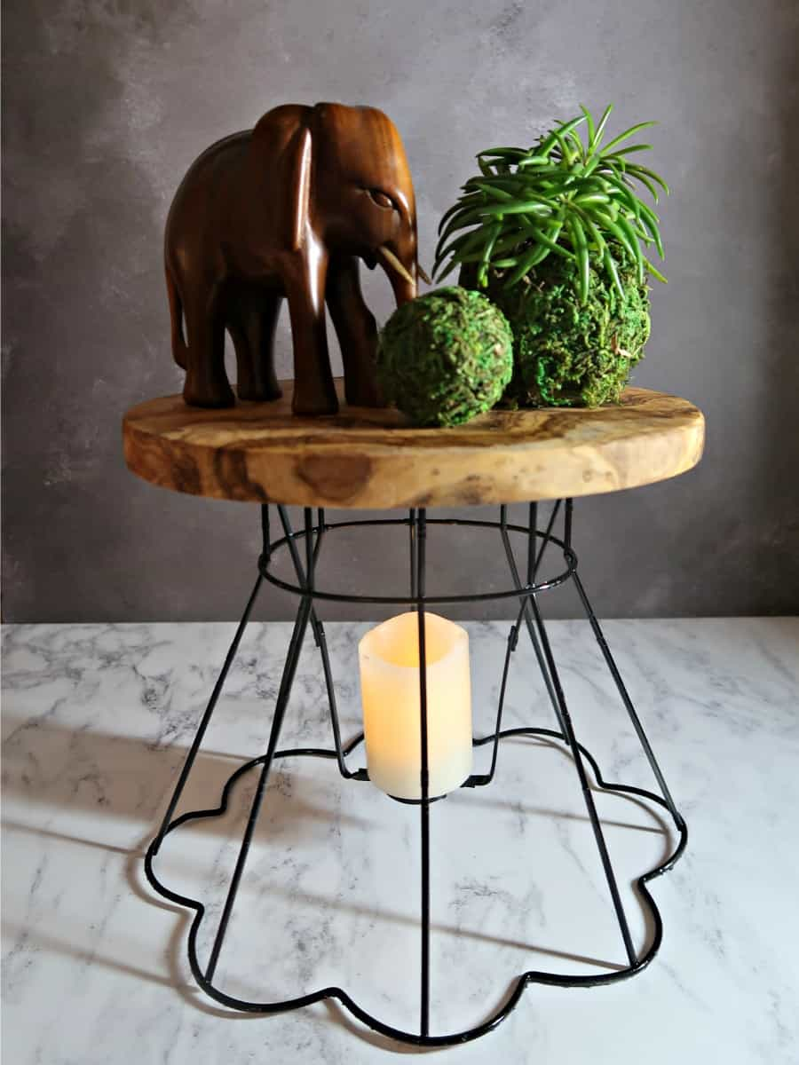 DIY Wire Lamp Shade Plant Stands