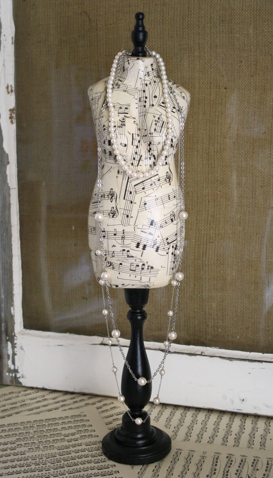 Mannequin DIY Paper Mache Jewelry Stand