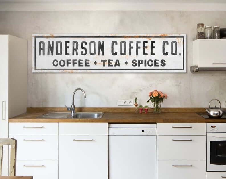 Beverage Bar Farmhouse Kitchen Sign