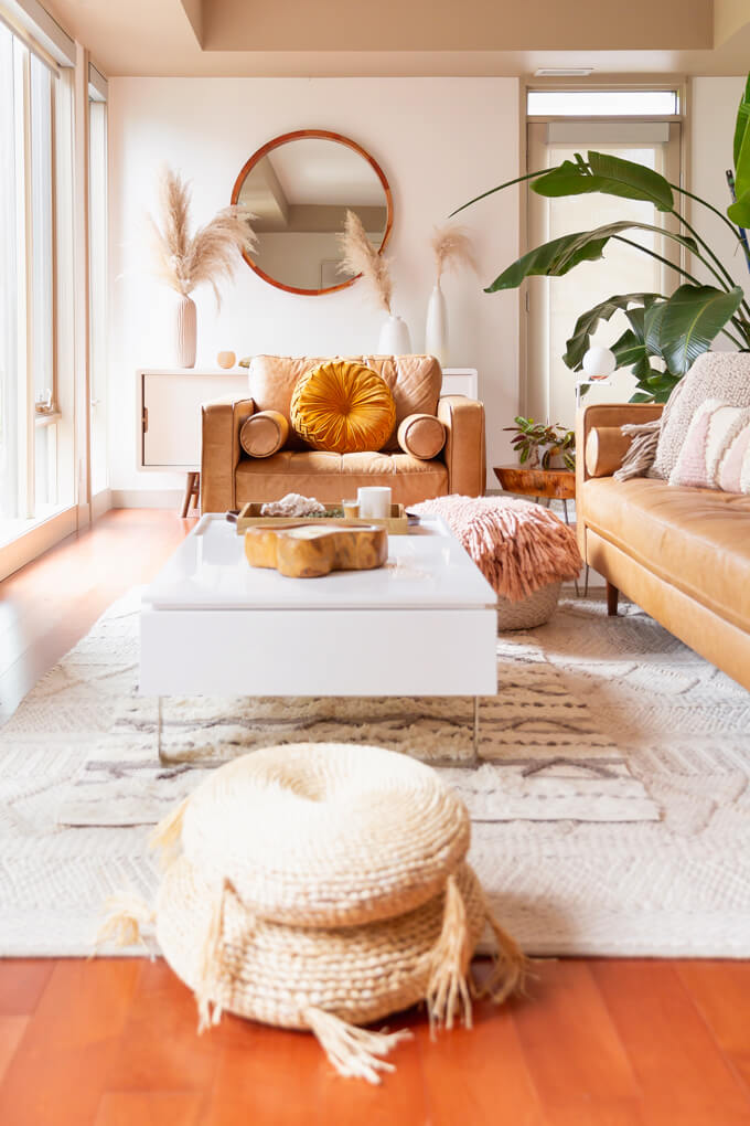 A Completed Boho Style Décor Room
