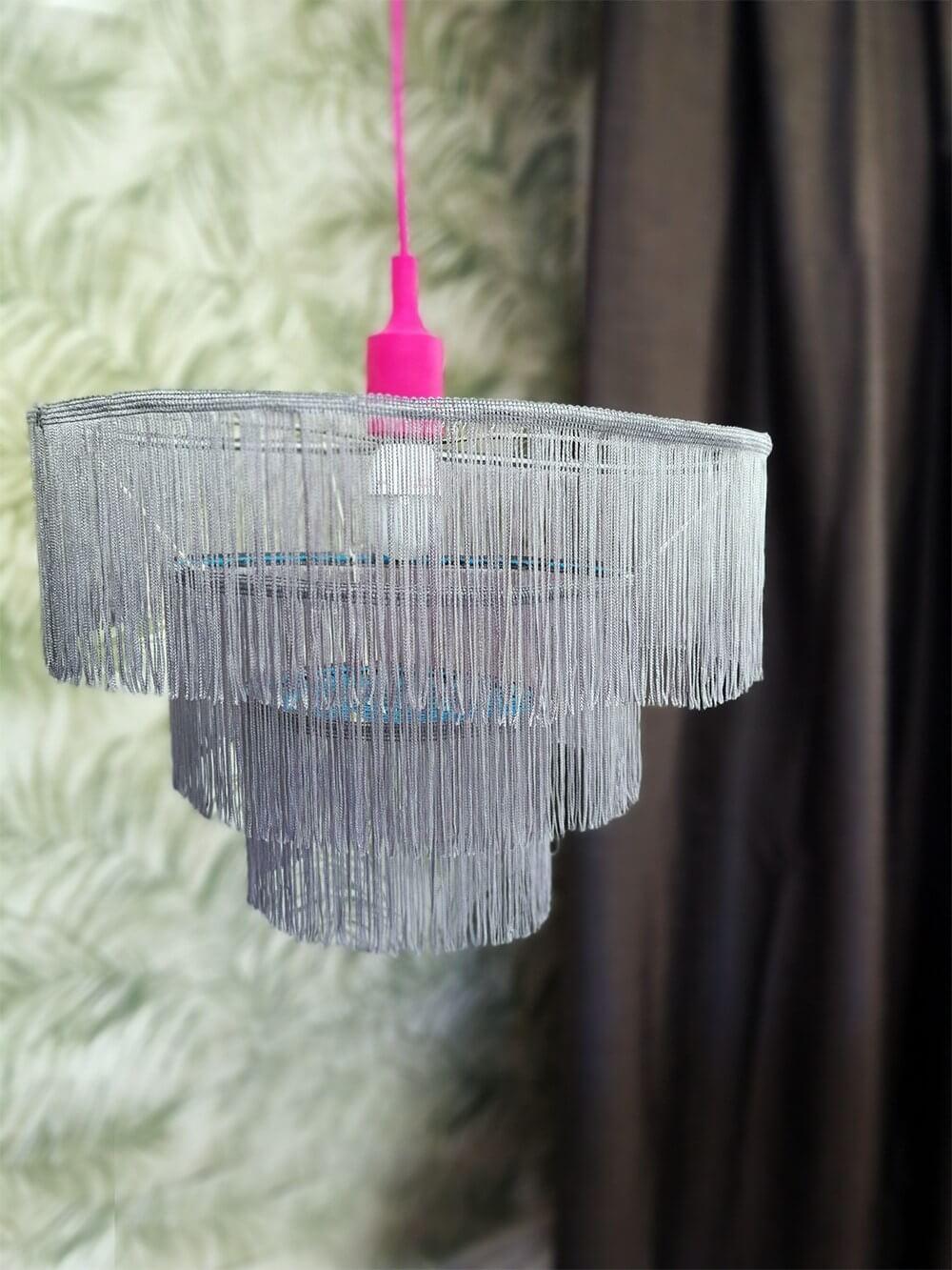 Fringe Chandelier Amazing Upcylced Lamp