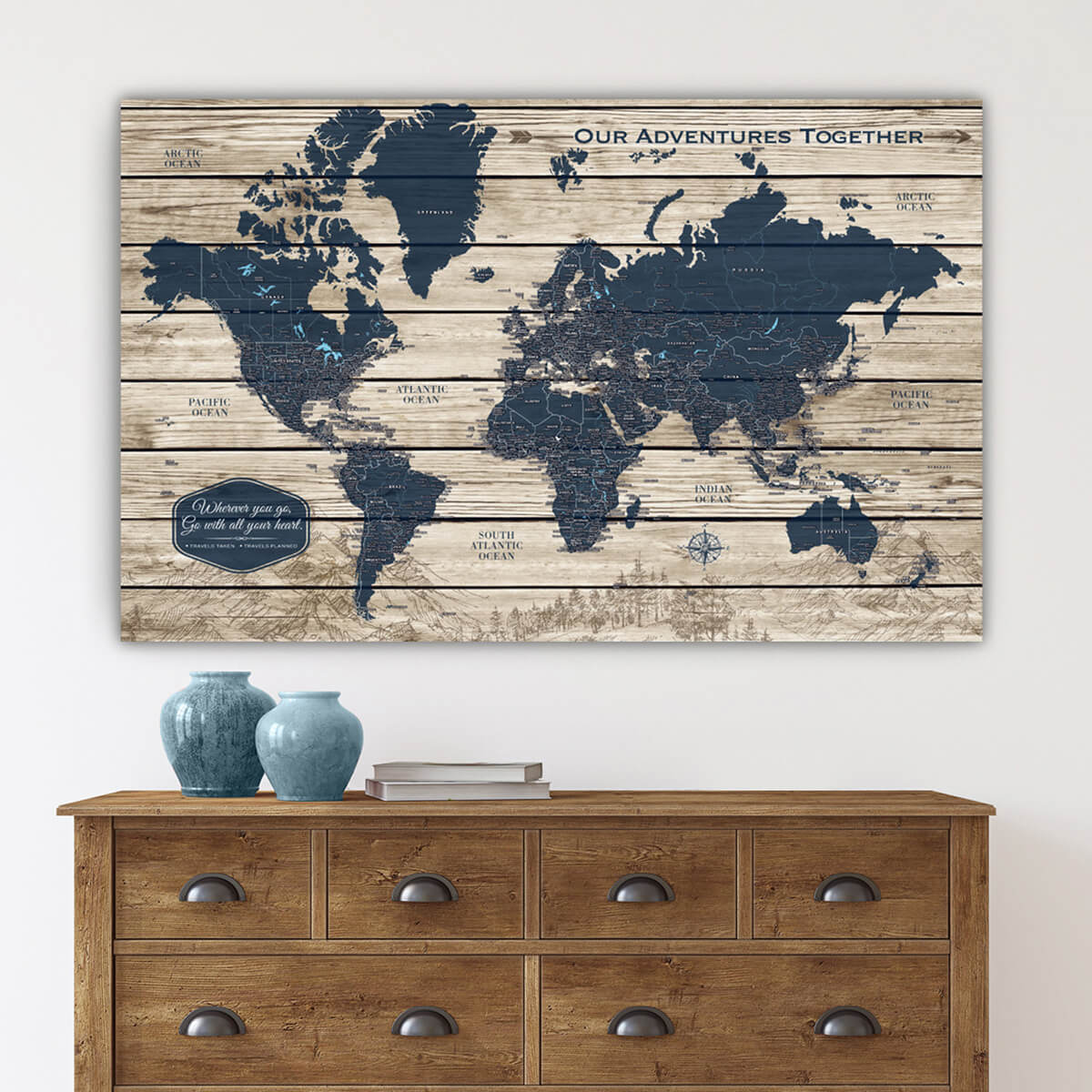 Mountain Forest Adventure Together Wooden Pallet Wall Art
