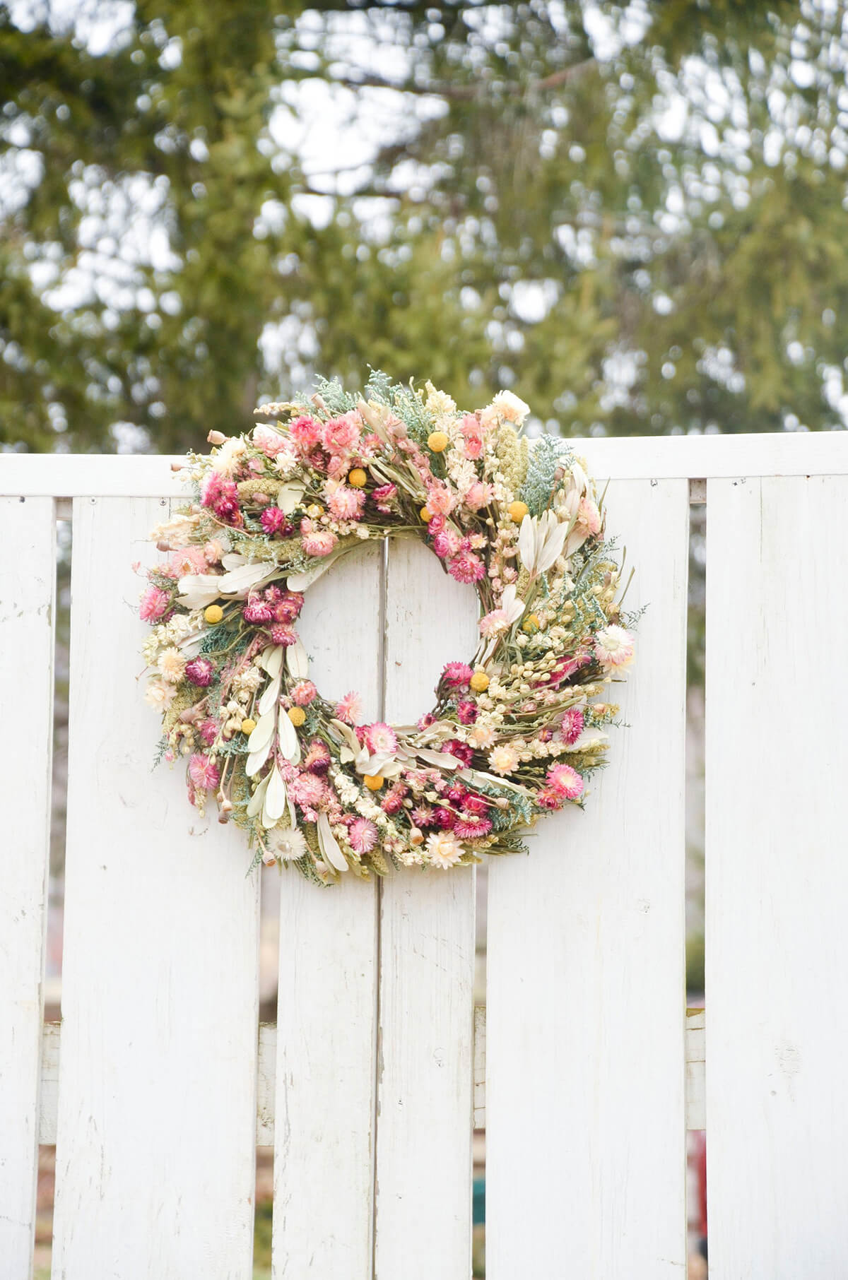 The Most Beautiful Rustic Wildflower Wreath