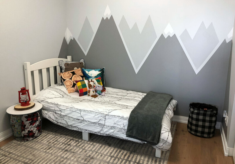 Rigid Ranges of Mountain Peaks Mural