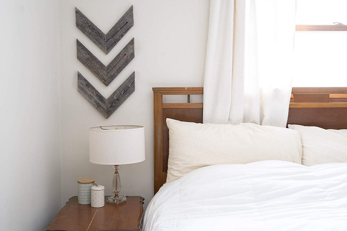 Weathered Wooden Chevron Rustic Wall Art
