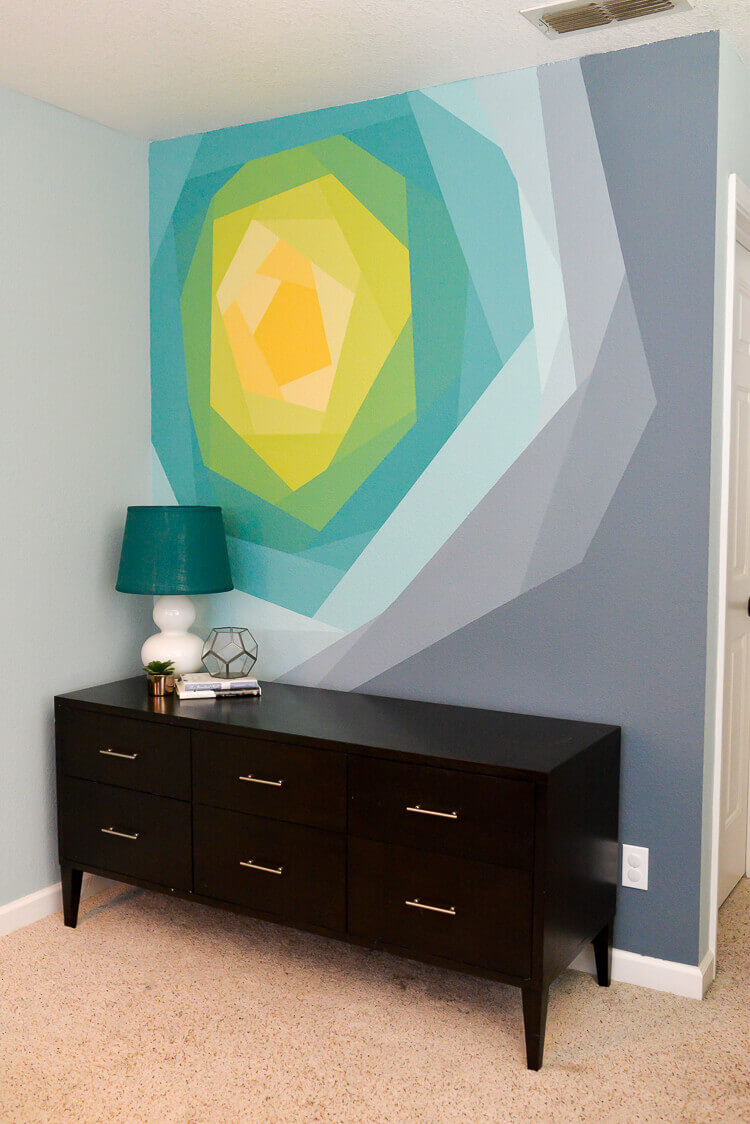 Kaleidoscope Geometric Sunburst Sunset Wall Mural