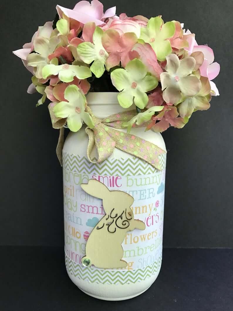 Colorful Easter Spring Mason Jar