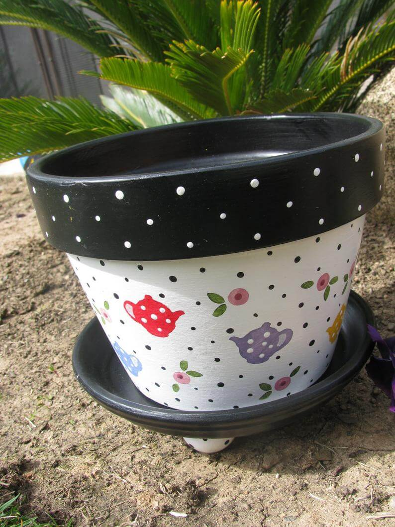 Sweet Teapot Flower Pot Planter