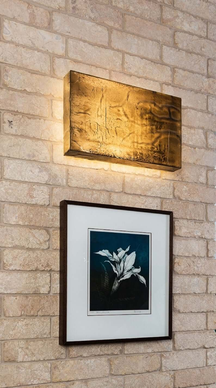 Liquid Bronze Illuminated Wall Sconce