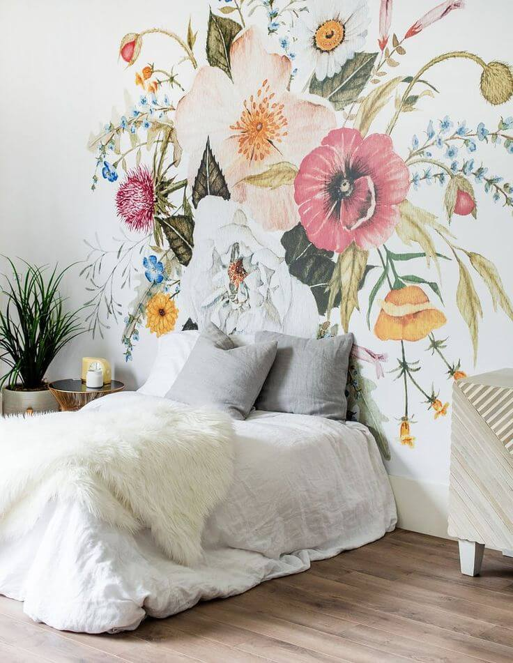 Fuzzy Fronds in a Wildflower Explosion Best Wall Mural Ideas