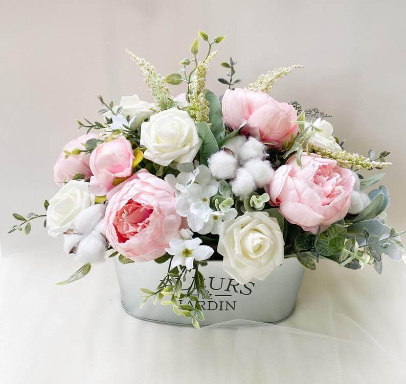 French Flower Garden Springtime Centerpiece
