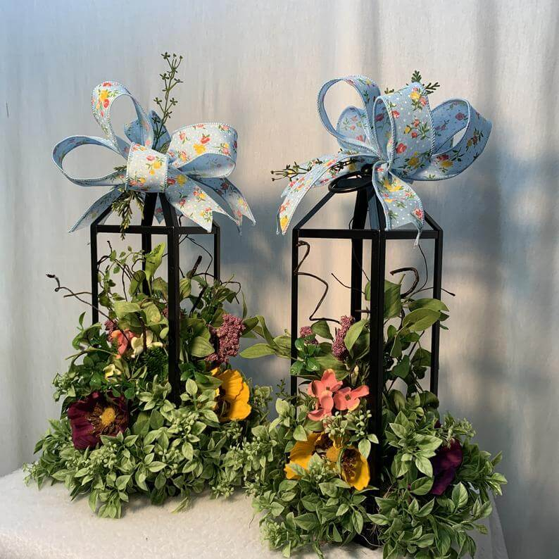 Lantern Bouquets with Spring Time Ribbon