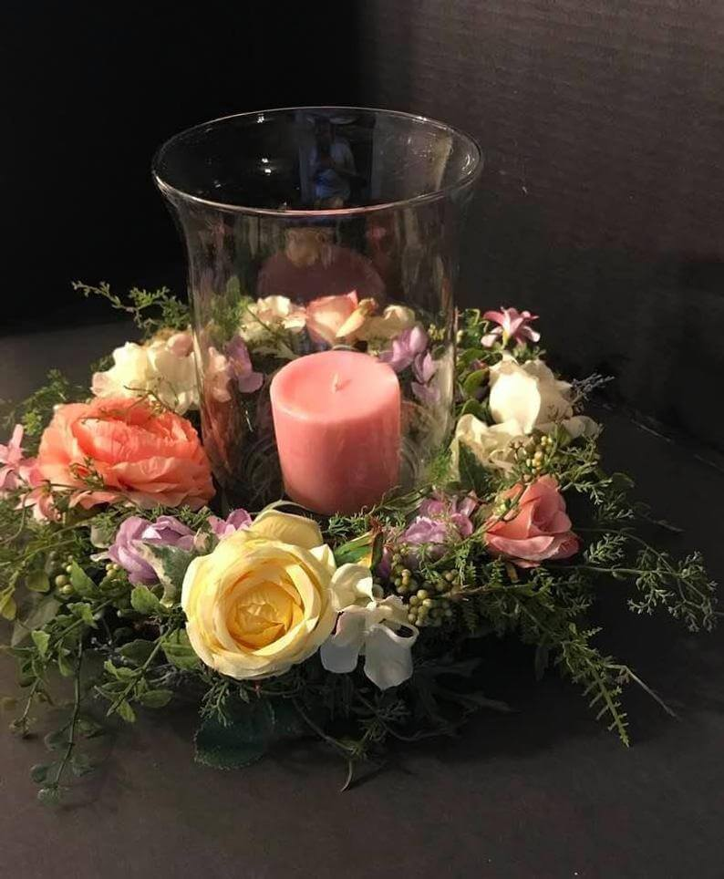 Spring Flower Ring Candle Accessory