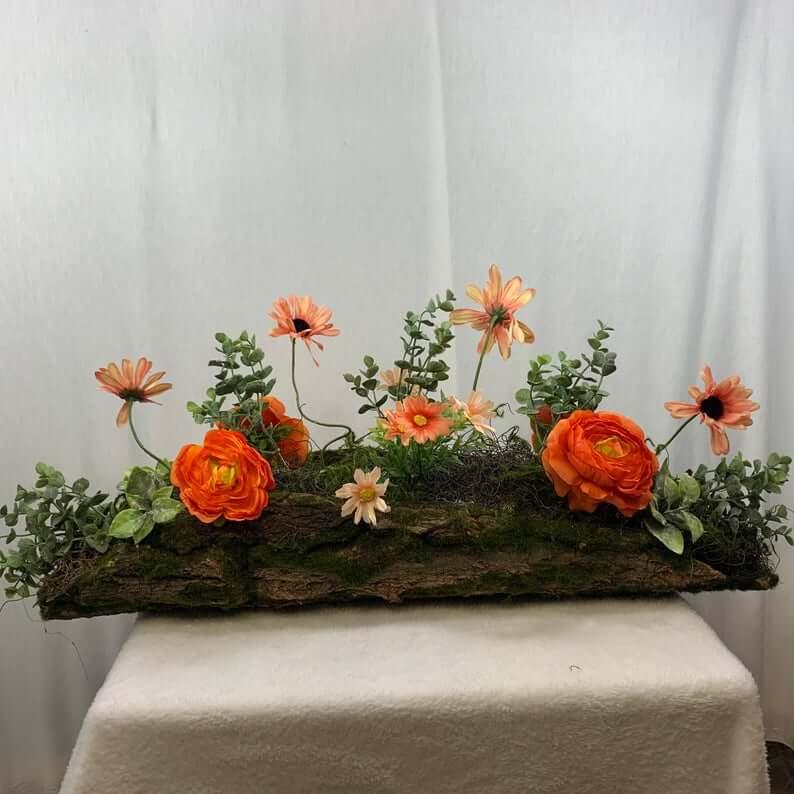 Woodland Wonderland Mossy Log Floral Arrangement