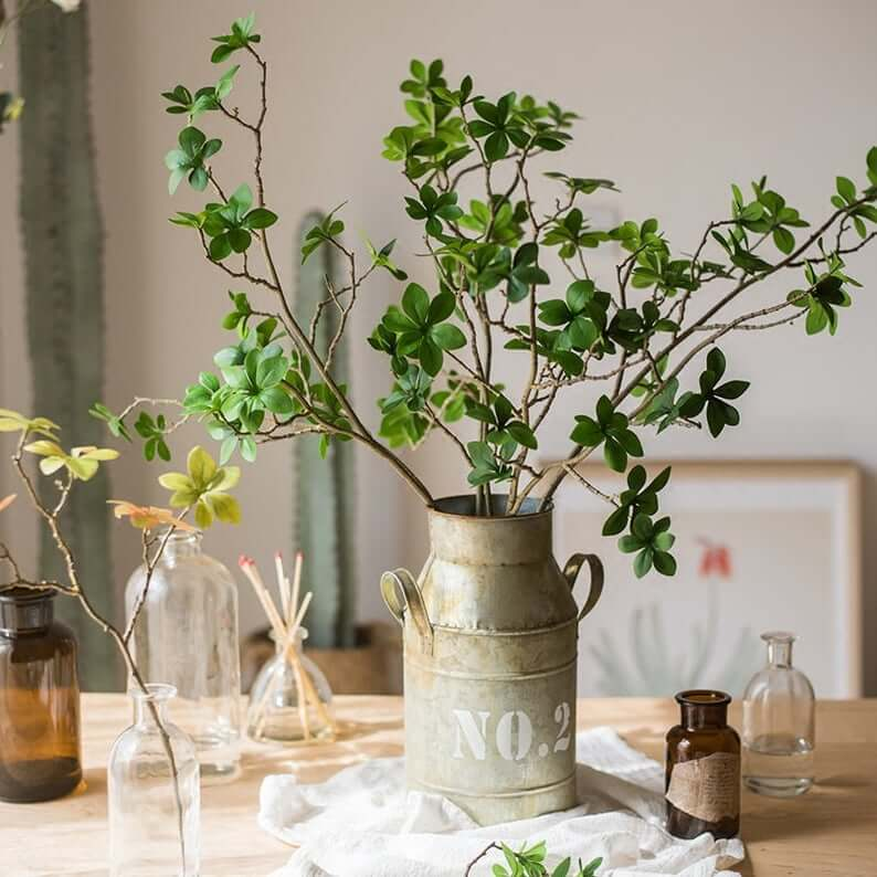 Miniature Milk Can Floral Vase Centerpiece
