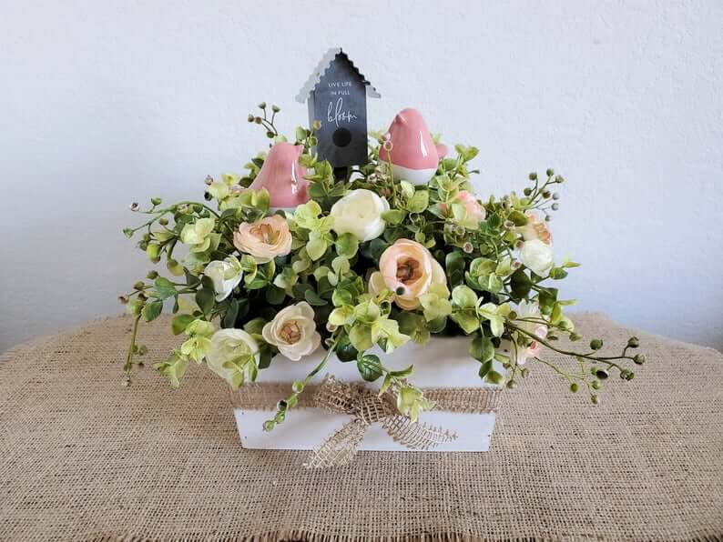 Live Life in Full Bloom Spring Centerpiece
