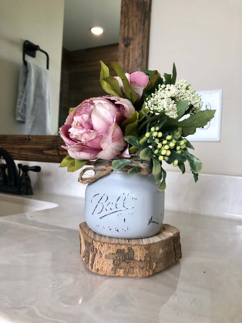 Rustic and Graceful Peony Bloom Small Arrangement