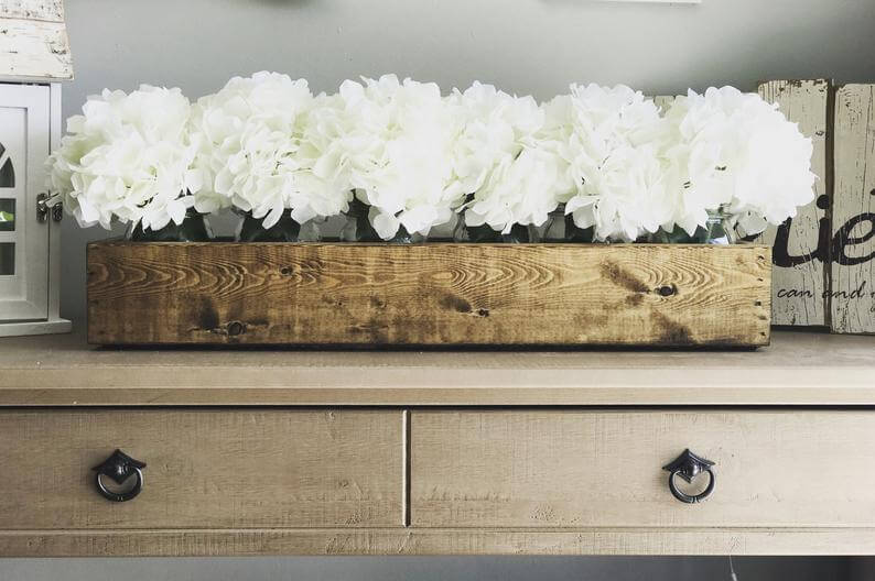 Sweet and Simple Wood Flower Box
