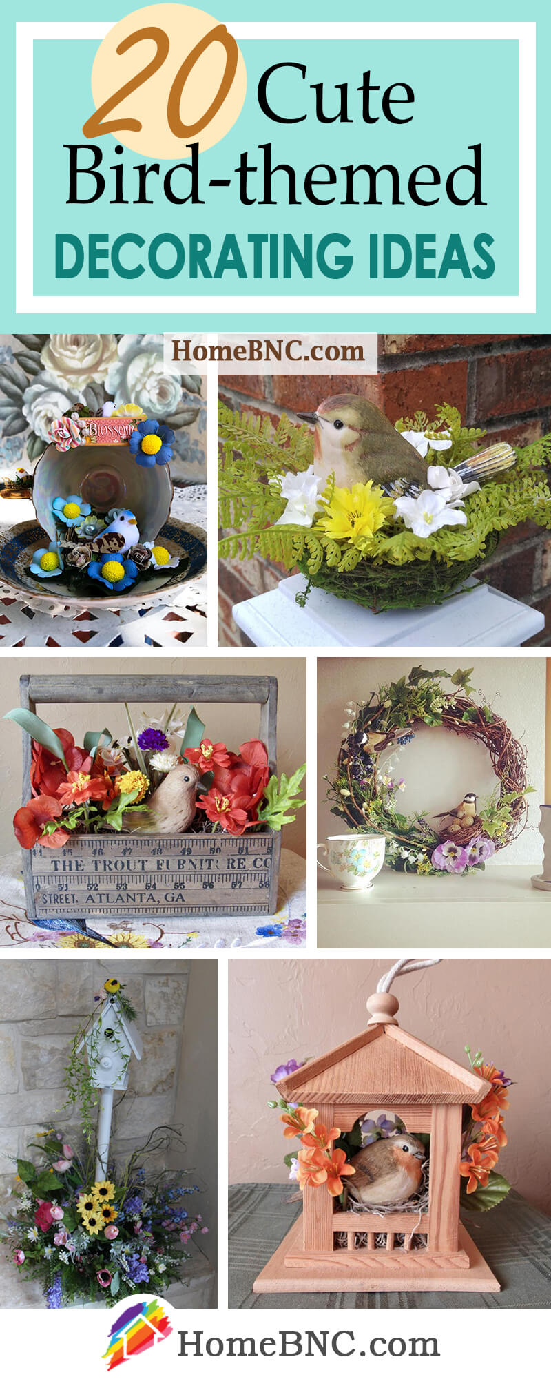 Cute Decorations with Bird Nets and Birds