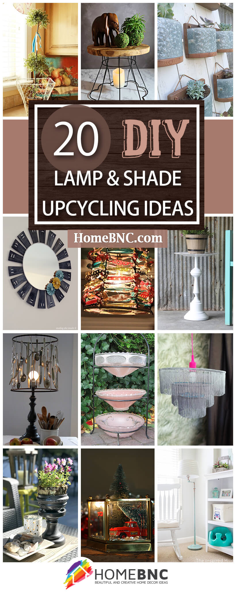 20 Best Upcycling Ideas For Lamps And Lamp Shades In 2020