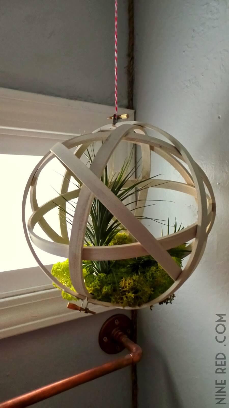 Encased Ball of Springtime Greenery