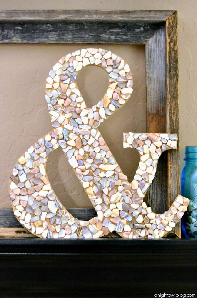 Ampersand with Seashells Home Decoration