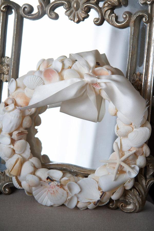 Seashell and Satin Ribbon DIY Wreath