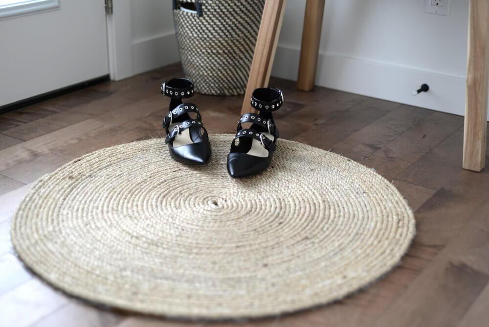 Coastal Style Round Jute Throw Rug DIY