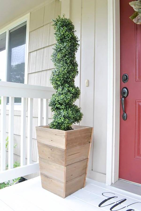 Reclaimed Fence Slat Outdoor Planter Box
