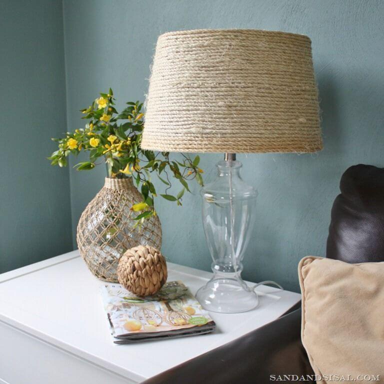 Sisal Lamp Shade Beach Home Decor