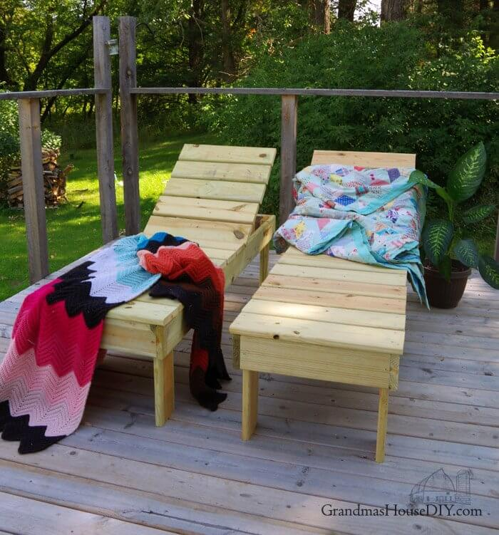 Chaise Lounge Outdoor DIY Wood Project