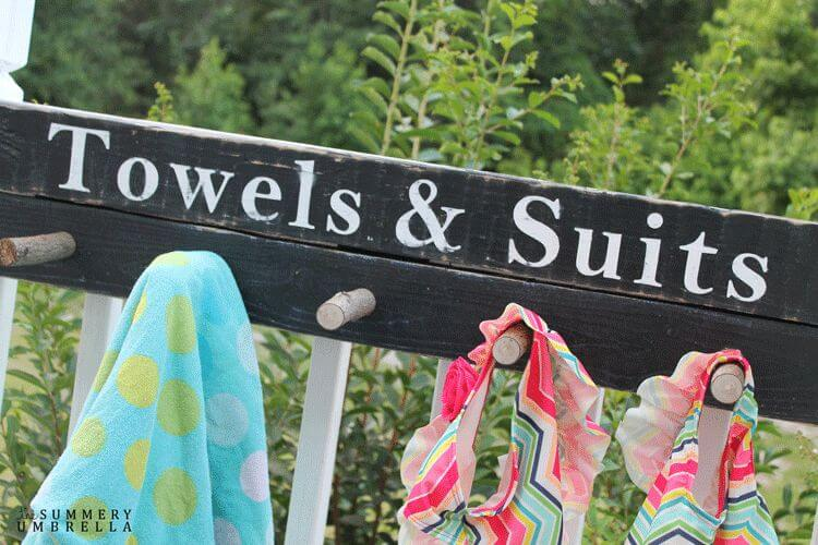 Towels and Suits Reclaimed Wood Sign