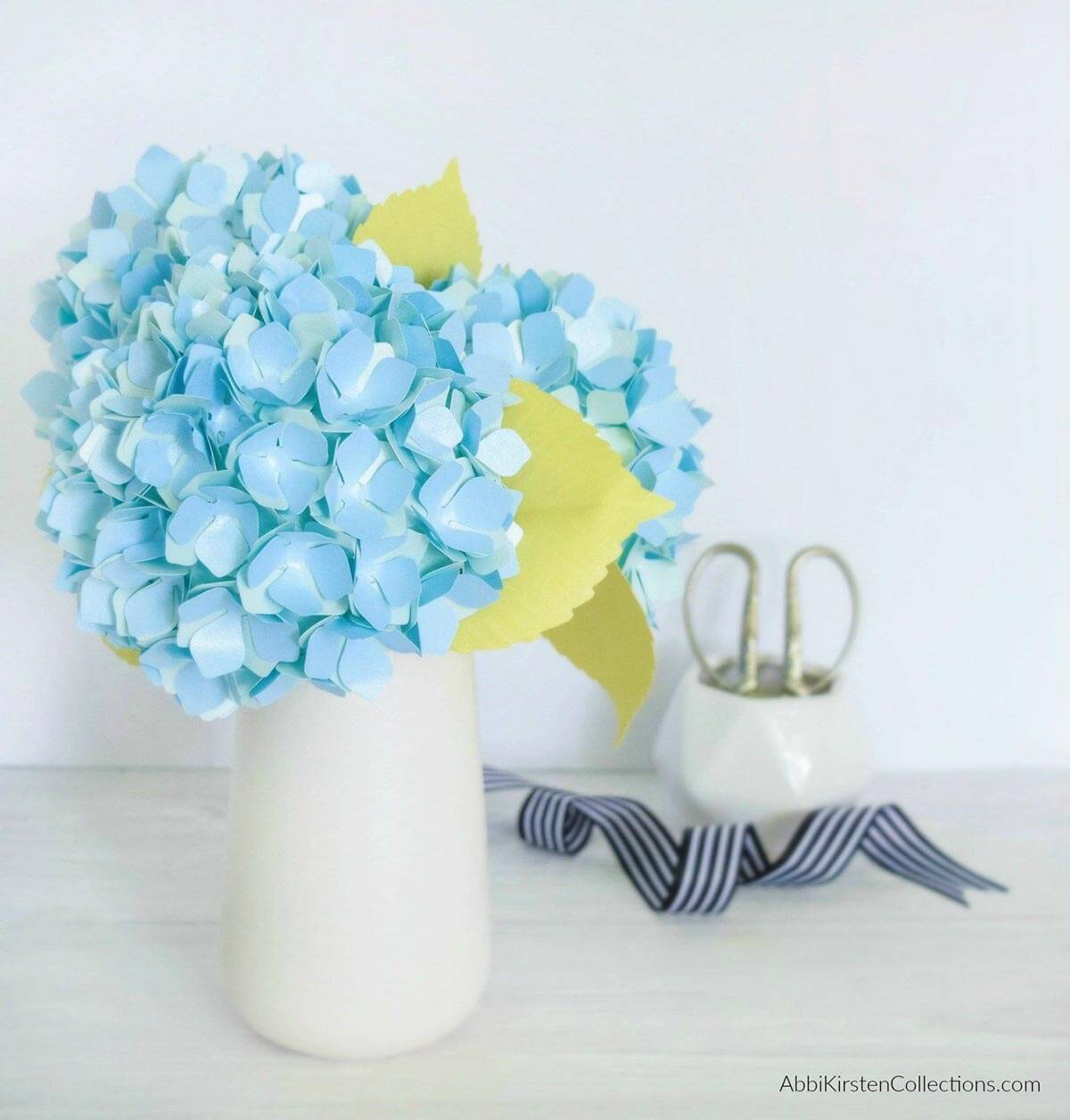 Hydrangeas Made from Metallic Paper