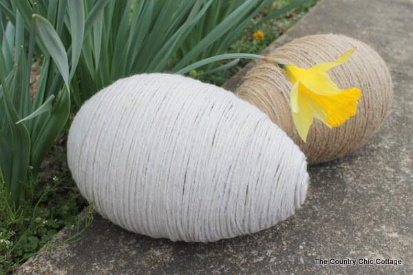 String Covered Egg