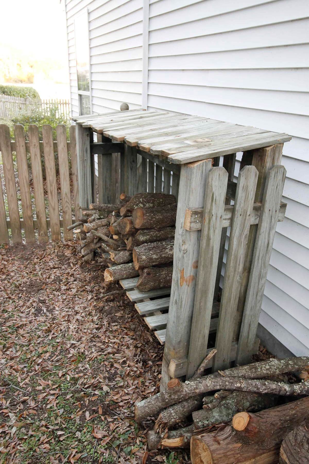 DIY Wooden Shed for Fire Wood