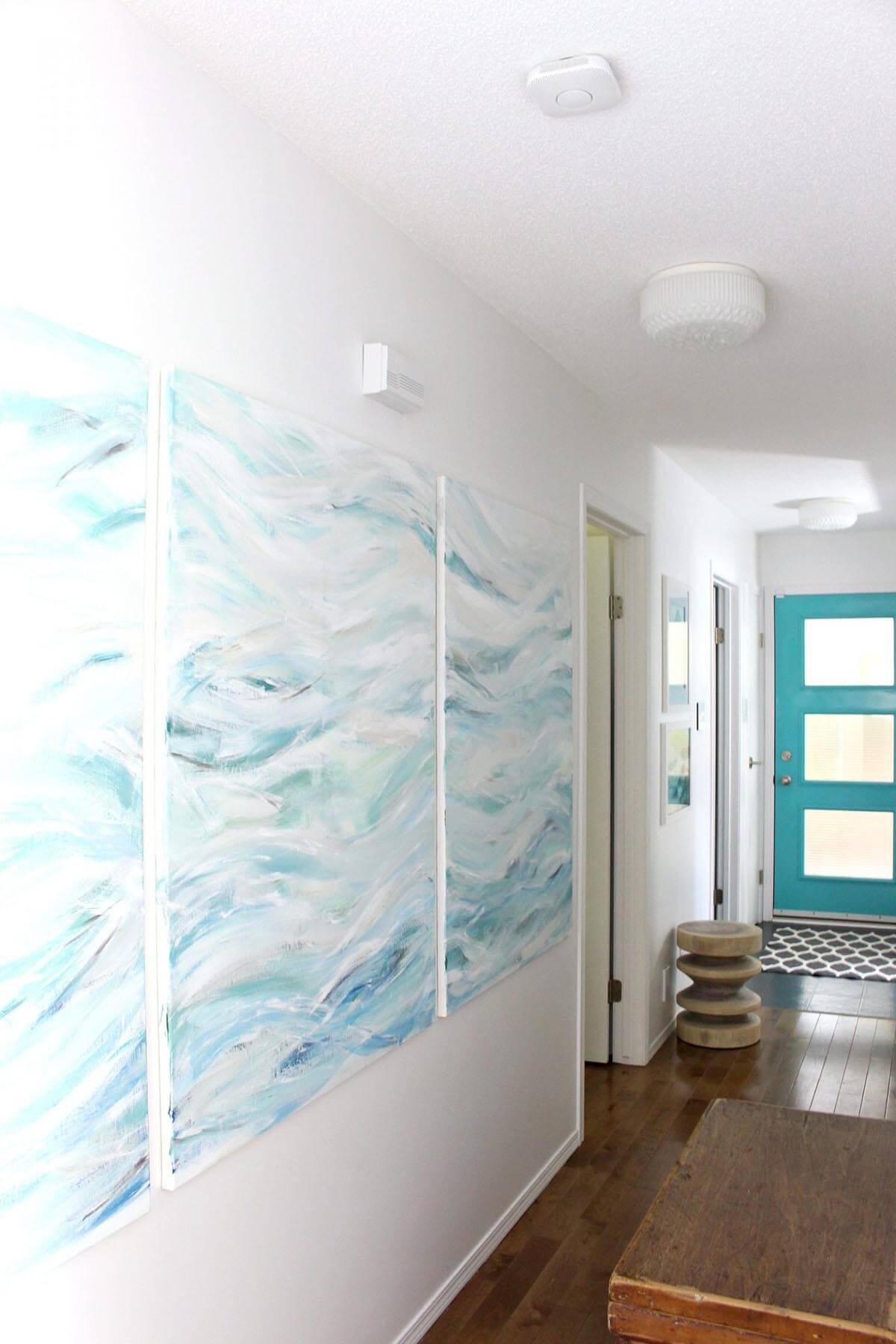 Cool Ocean Waves DIY Modern Wall Art
