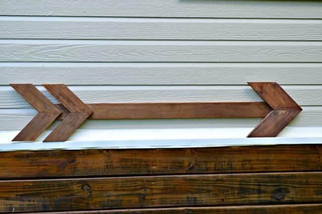 Arrow Sign Outdoor DIY Wood Project