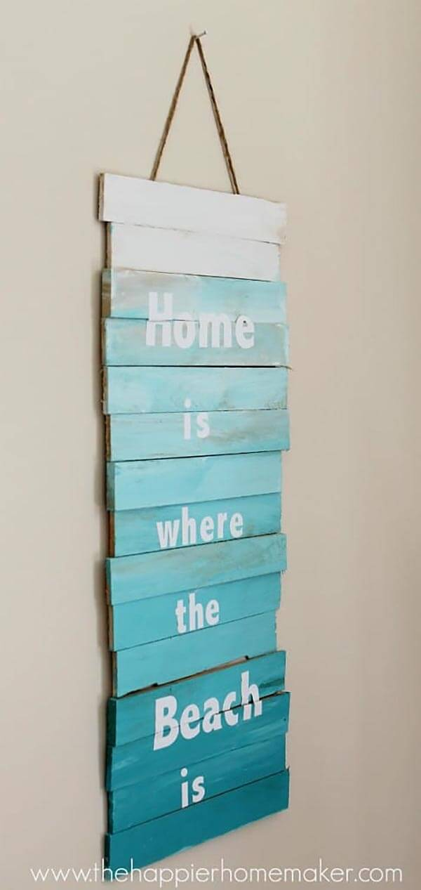 """""""Home is Where the Beach is"""" Sign"""