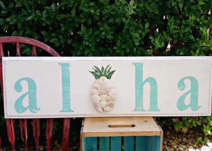 Aloha Wooden Sign Home Decoration