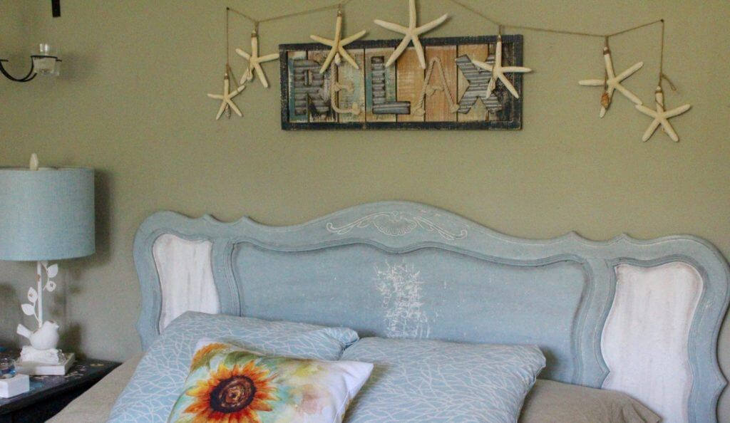 Saltwash and Chalk Paint Upcycled Headboard
