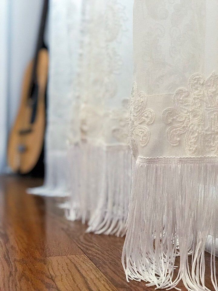 Delicate and Pretty Curtains with Fringe