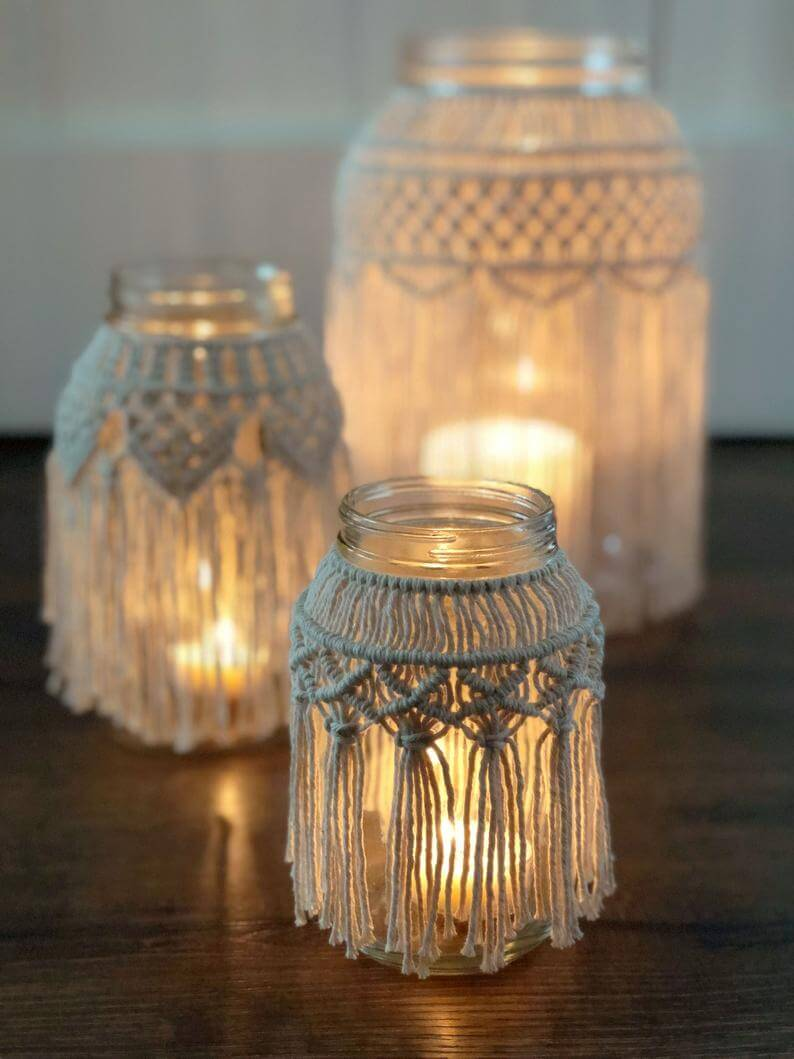 Simply Gorgeous Macrame Candle Covers