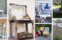 Reclaimed wood DIY outdoor decorations