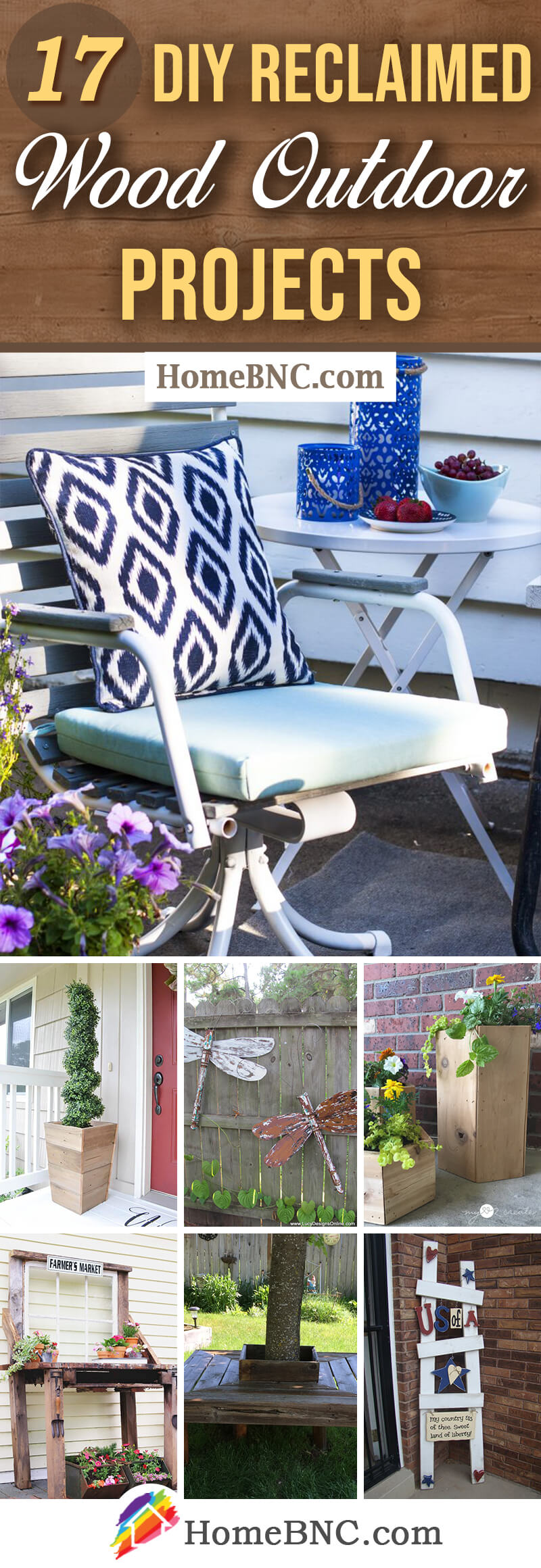 Reclaimed wood DIY outdoor projects