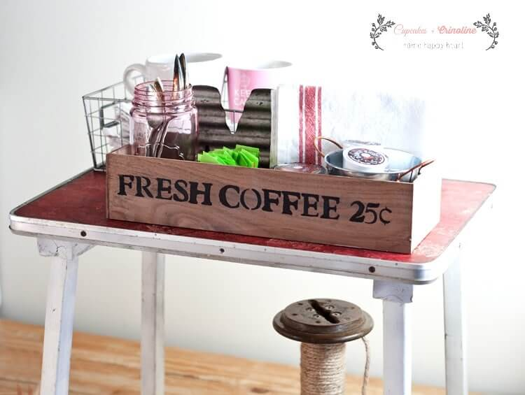 Rustic Coffee Station Pallet Organizer