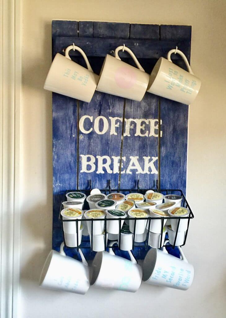Coffee Pods and Mugs Hanging Station
