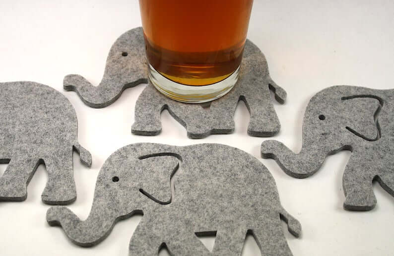 Pachyderms Lining Up on Your Tabletop