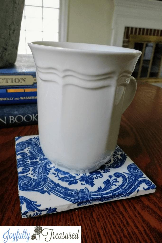 Unique Ceramic Decoupage Cup Coasters